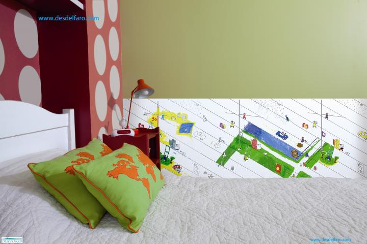 Papel pintado infantil y cenefas para dibujar y colorear for Cenefas para dibujar