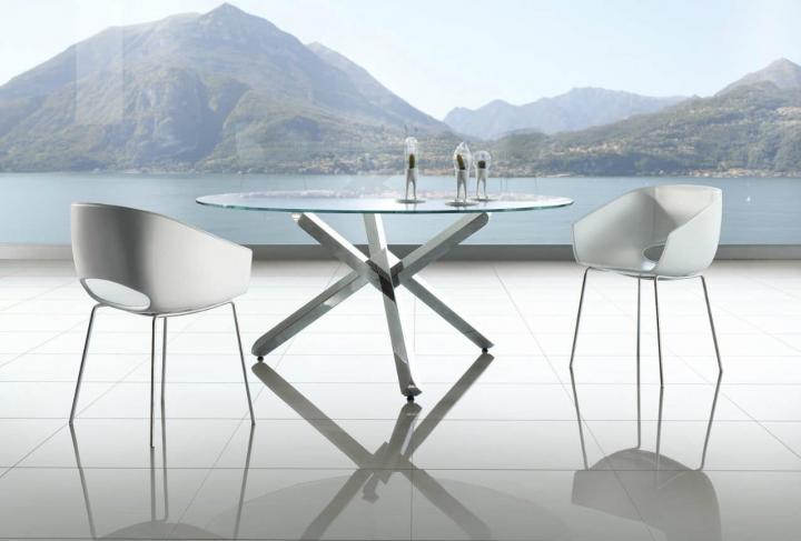 10 mesas redondas de cristal para tu hogar - Cristales para mesas redondas ...