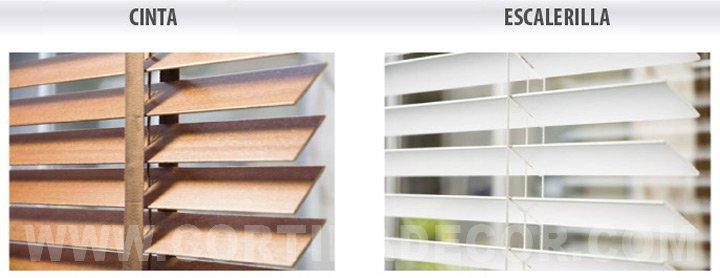 Cortinas venecianas de madera Decoracin del hogar
