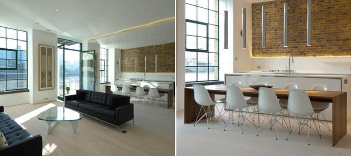 Antiguo almac n de londres convertido en un apartamento for Apartamentos minimalistas