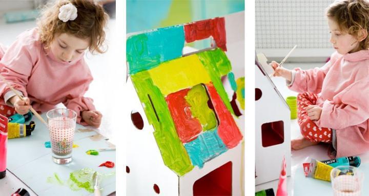 Decoraci n de habitaciones infantiles ideas para decorar - Casa carton ninos ...