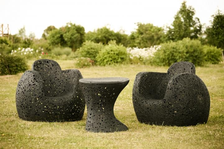 Colección de muebles en fibra de basalto de Raimonds Cirulis