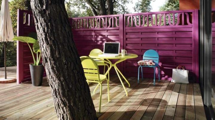 Colorido para una terraza de verano