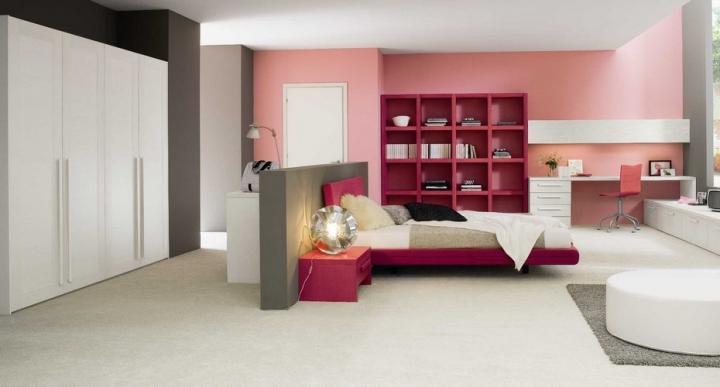 Combinar gris y rosa en la decoración