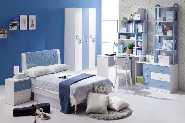Cómo combinar el gris y azul en la decoración