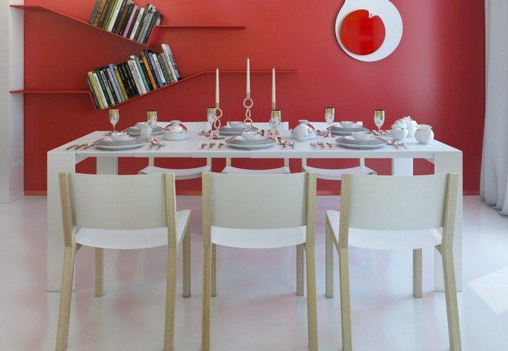 Decoración de interiores en rojo