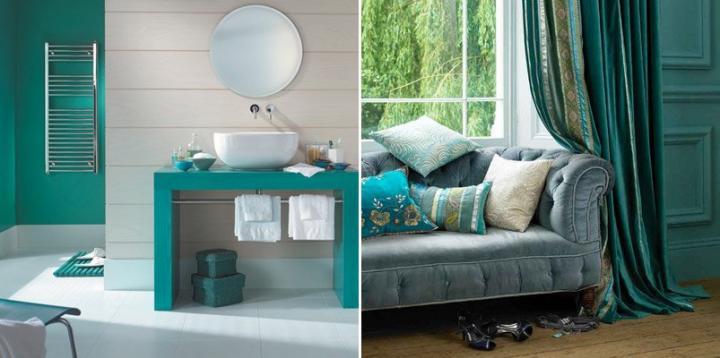 Decoraci n de interiores en verde decoraci n del hogar - Decoracion de paredes en verde ...