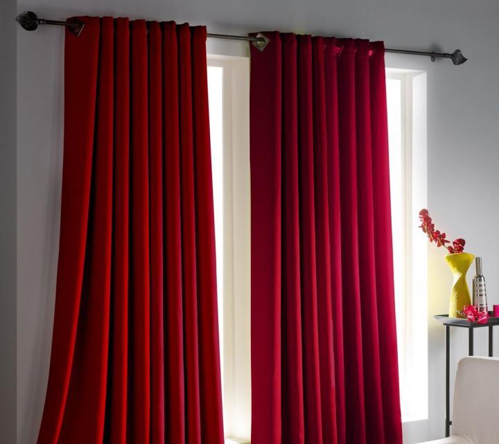 cortinas para una decoraci n roja decoraci n del hogar