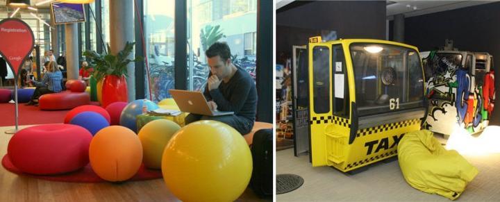 Decoración de las oficinas de Google en Zurich