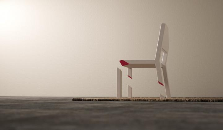 Diseño de sillas: Cut Chair