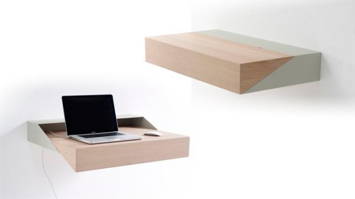 Escritorio deskbox mini soluci n a los problemas de - Muebles practicos para espacios pequenos ...