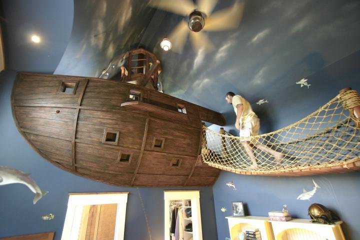 Habitaciones infantiles con decoración pirata