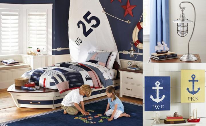 Habitaciones infantiles de estilo marinero decoraci n del - Muebles estilo marinero ...