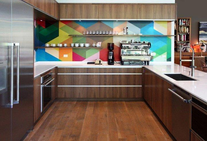 Idea decorativa para una cocina llena de color y alegría ...
