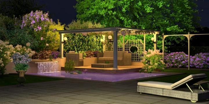 Iluminacion de Jardines Modernos Iluminación Del Jardín