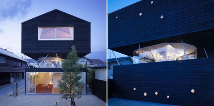 Casa charred cedar en hirosima decoraci n del hogar for Casa clasica japonesa
