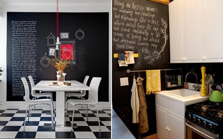 Imágenes de paredes pizarra para cocinas