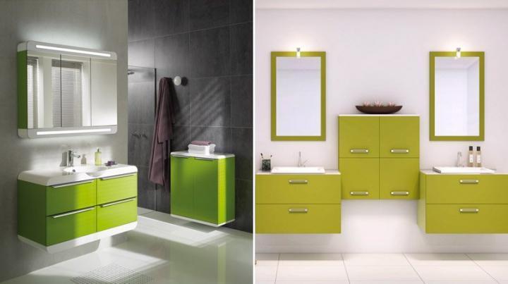 Inspiraci n cuartos de ba o decoraci n en verde ii for Cuartos de bano famosos
