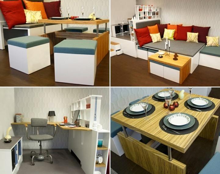 Matroshka decoraci n compacta para casas peque as - Muebles casas pequenas ...