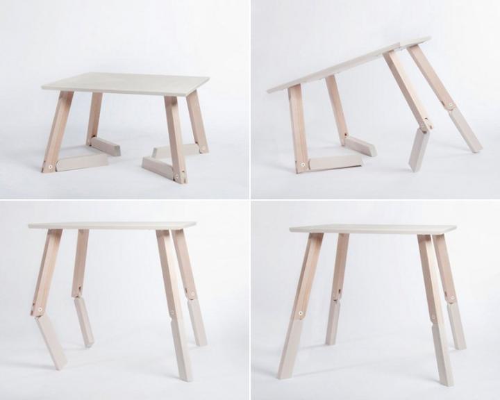 Mesa bambi la mesa plegable articulada decoraci n del hogar - Mesa plegable diseno ...