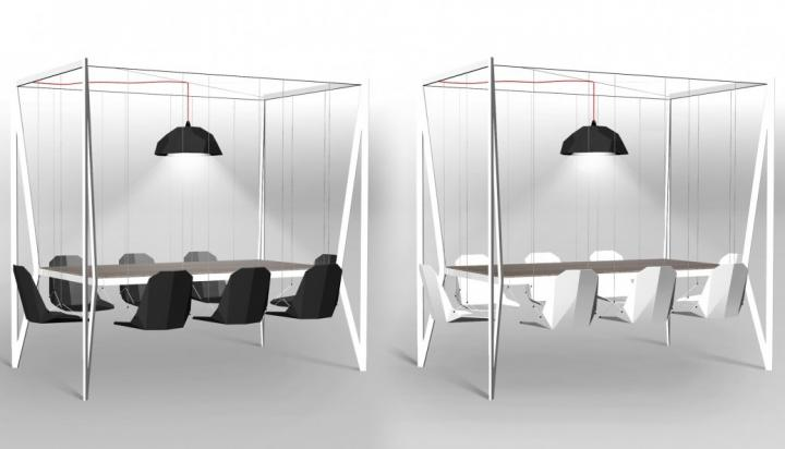 Mesa de comedor Swing table.