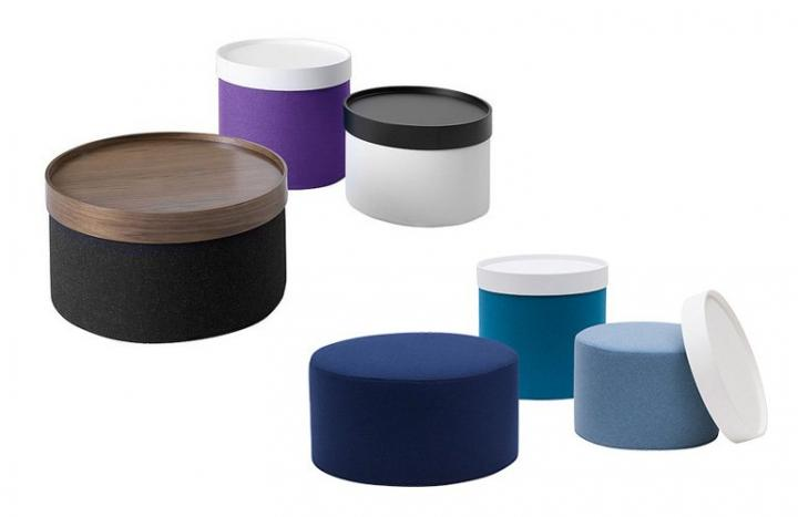 Muebles Softline. Pufs Drums