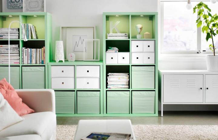 C mo ordenar el sal n con muebles ikea decoraci n del hogar - Ikea estanterias libros ...