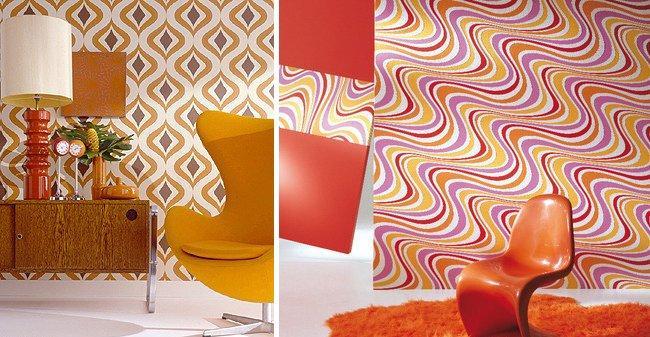Ideas para una decoraci n retro al estilo de los a os 60 - Papeles de los 70 ...