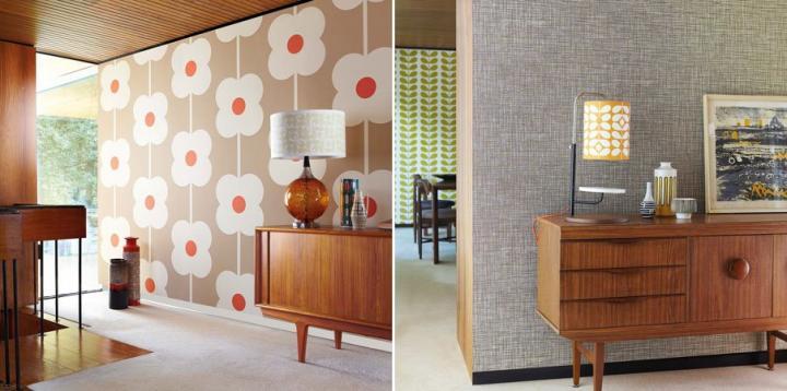 Papeles pintados para un estilo retro decoraci n del hogar for Estilos decorativos