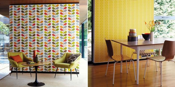 Papeles pintados para un estilo retro decoraci n del hogar - Papeles decorativos para cocinas ...
