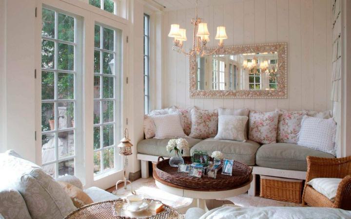C mo decorar un sal n peque o decoraci n del hogar - Paredes de salon ...