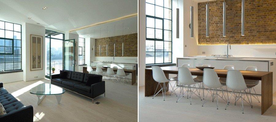 antiguo almacn en londres convertido en un apartamento minimalista - Decoracion Minimalista