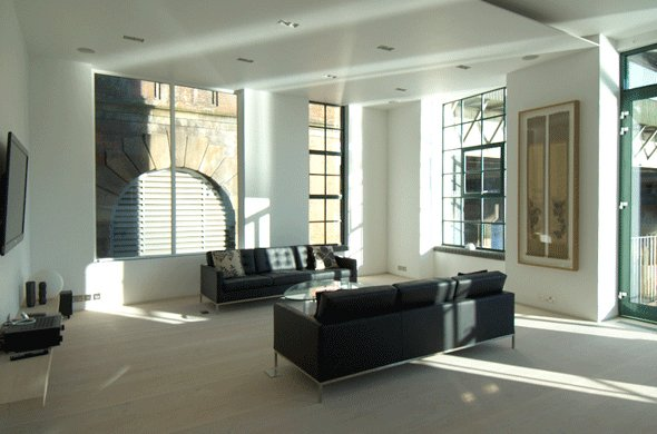 Antiguo almac n de londres convertido en un apartamento - Apartamentos lujo londres ...