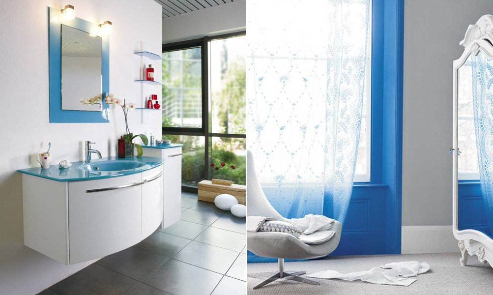 decoraciones de interiores en azul