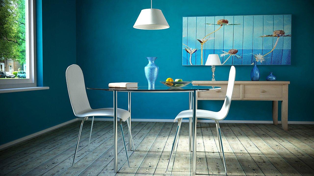 El azul en la decoraci n de interiores ii decoraci n - Azul turquesa pared ...