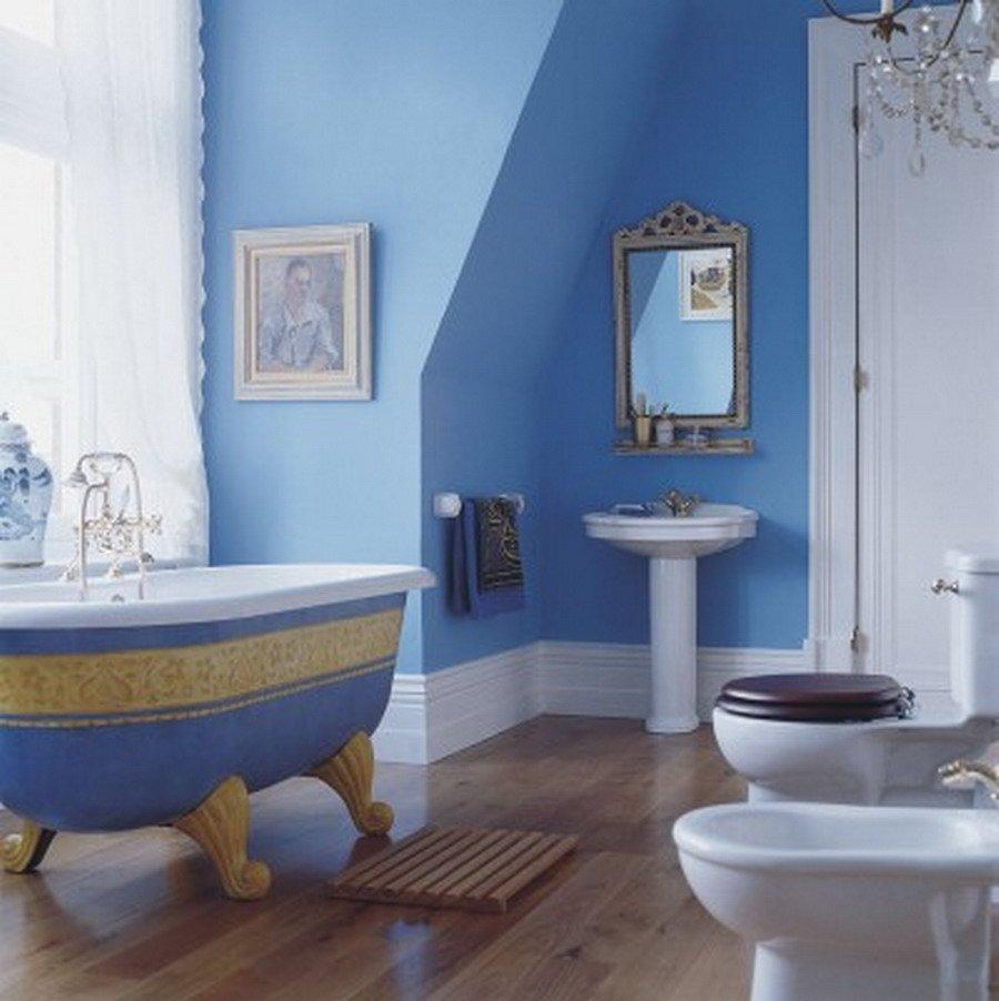 El azul en la decoraci n de interiores ii decoraci n for Bathroom designs and colours