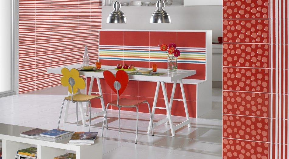 Los azulejos de dise o de agatha ruiz de la prada decoraci n del hogar - Azulejos rectangulares ...