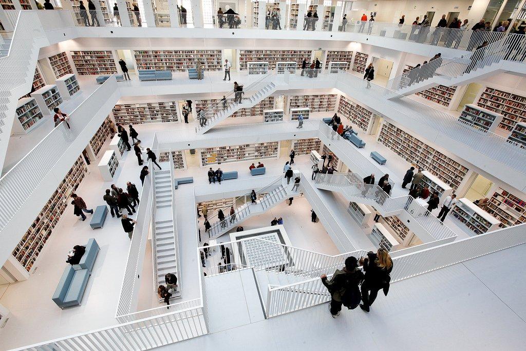 Biblioteca municipal de stuttgart dise o y pasi n por la for Galeria stuttgart