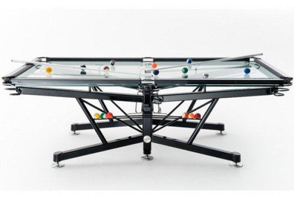 The g 1 la mesa de billar trasparente decoraci n del hogar for Mesas de billar modernas