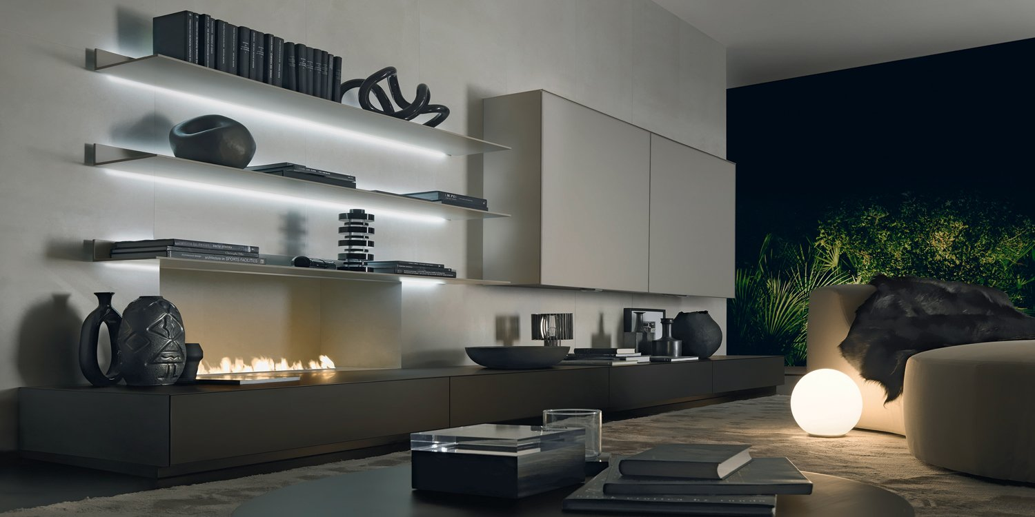 boiserie abacus living de rimadesio decoraci n del hogar. Black Bedroom Furniture Sets. Home Design Ideas
