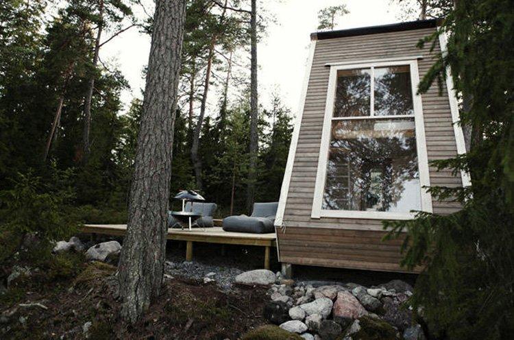 Cabaña de madera por menos de 10.000 euros. decoración del hogar.