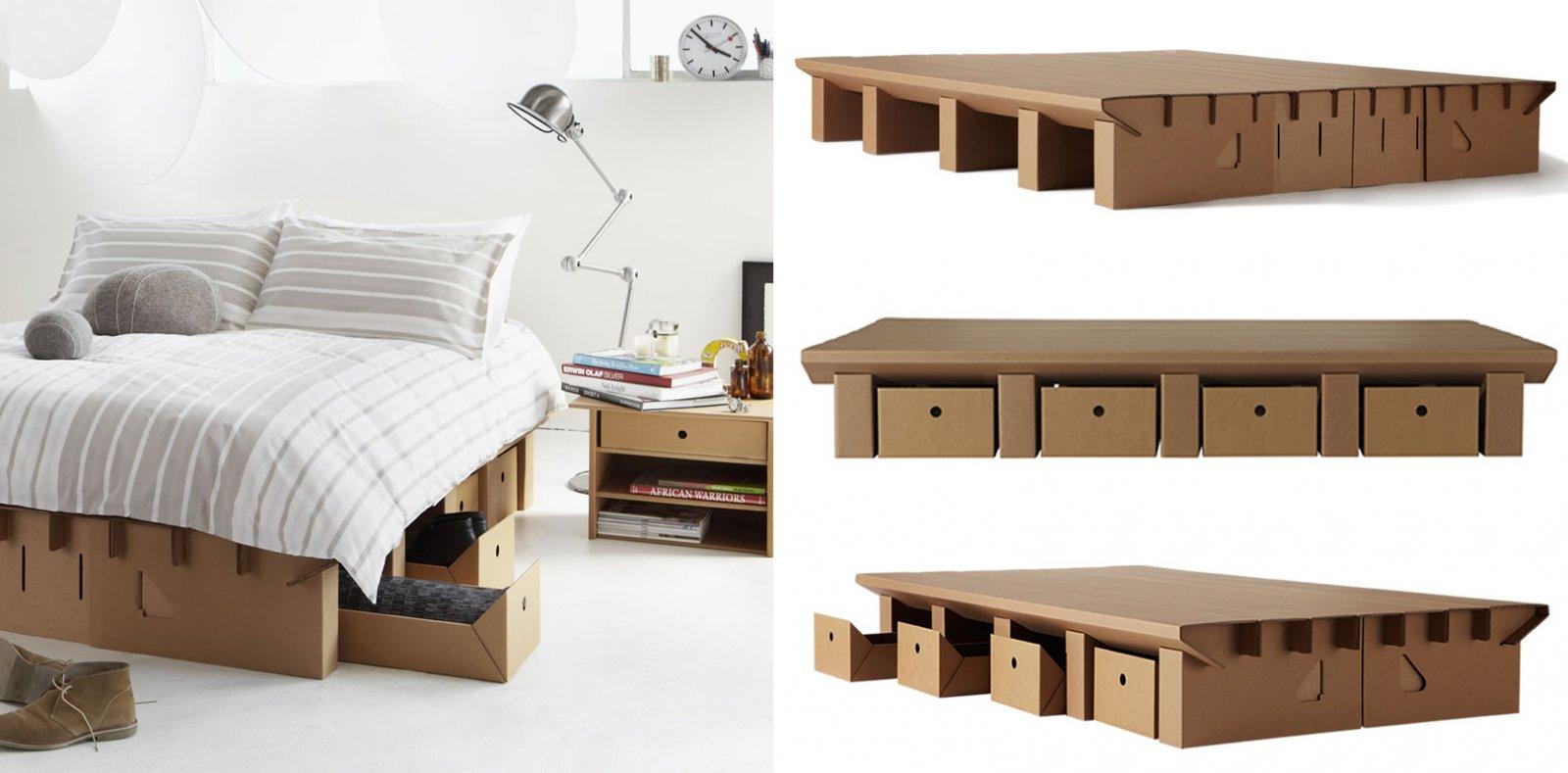 Muebles de cartón de la firma Karton. Decoración del hogar.
