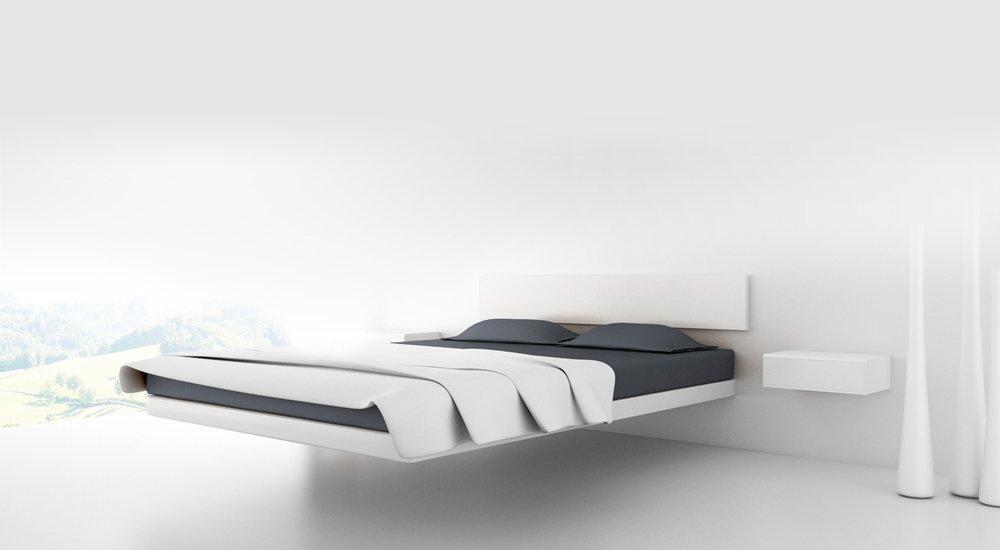 Cama de dise o flotante aluna bed decoraci n del hogar - Disenos de camas ...