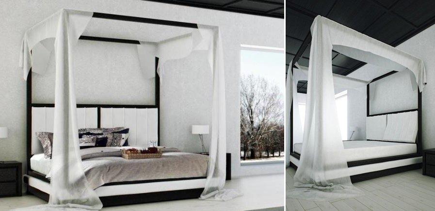 Camas con dosel de estilo moderno decoraci n del hogar - Camas estilo romantico ...