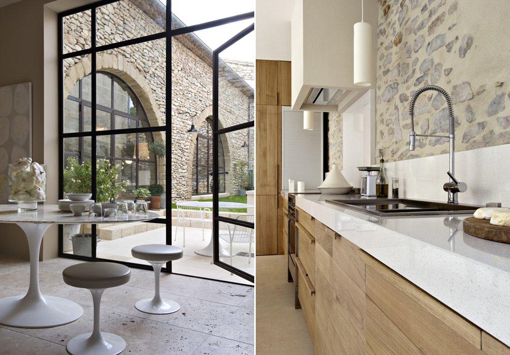 Magn fica casa de campo de paredes de piedra decoraci n for Casa moderna tipo loft