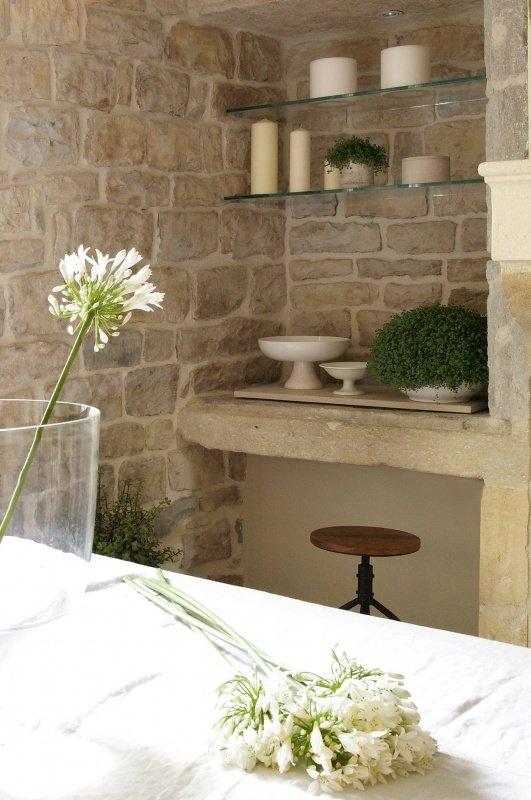 Magn fica casa de campo de paredes de piedra decoraci n del hogar - Decoracion paredes de piedra ...