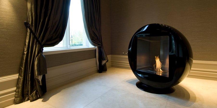 Chimeneas de diseño ecosmart fire ii. decoración del hogar.