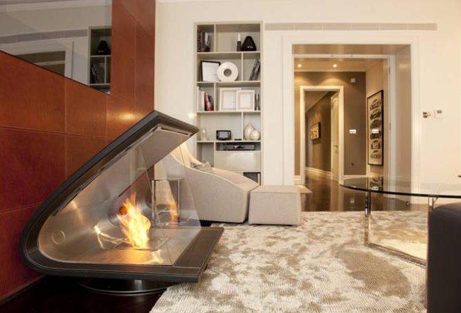 Chimeneas de diseño ecosmart fire. decoración del hogar.