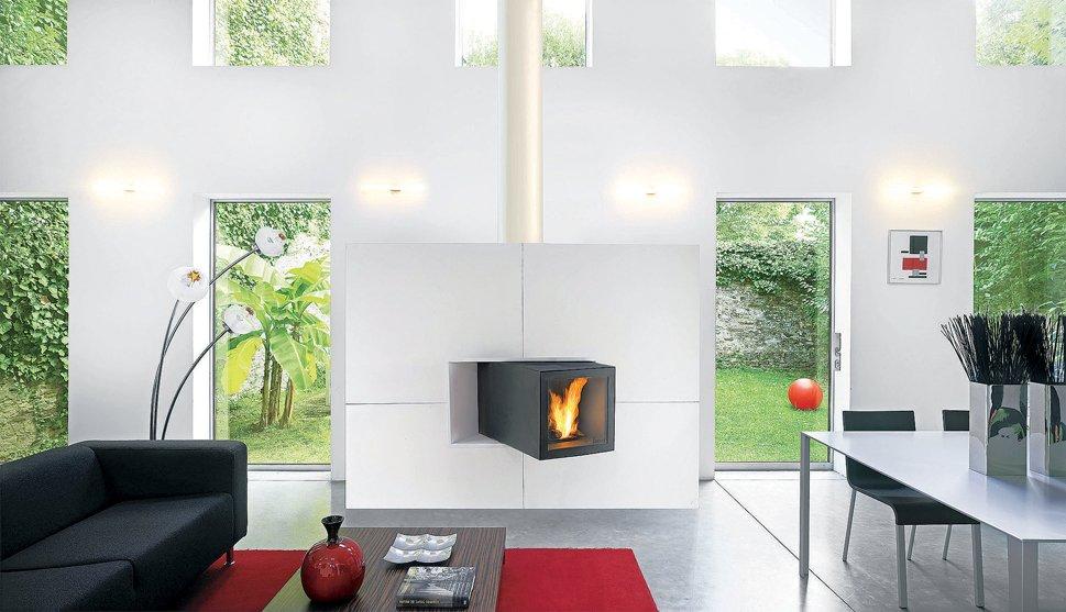 Chimeneas para el sal n decoraci n del hogar - Salones con chimeneas modernas ...