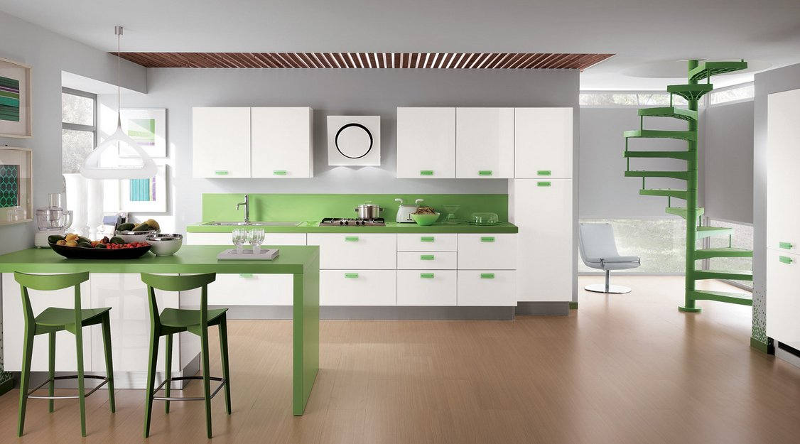 Cocinas modernas llenas de colorido scavolini ii - Fotografias de cocinas ...